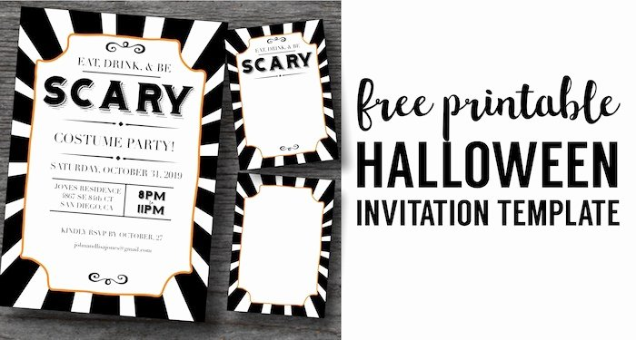 Halloween Party Invite Template Luxury Halloween Invitations Free Printable Template Paper