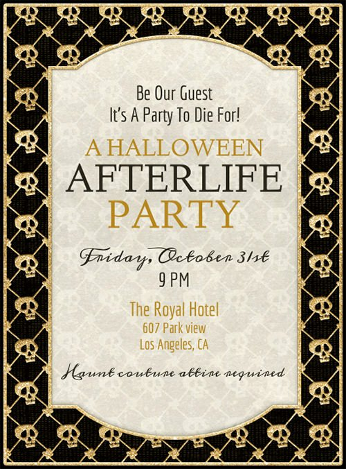 Halloween Party Invite Template New 35 Halloween Invitation Free Psd Vector Eps Ai
