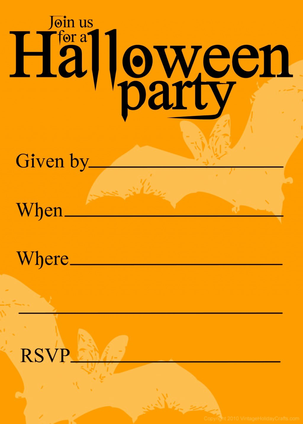 Halloween Party Invite Template New Free Printable Halloween Party Invitations