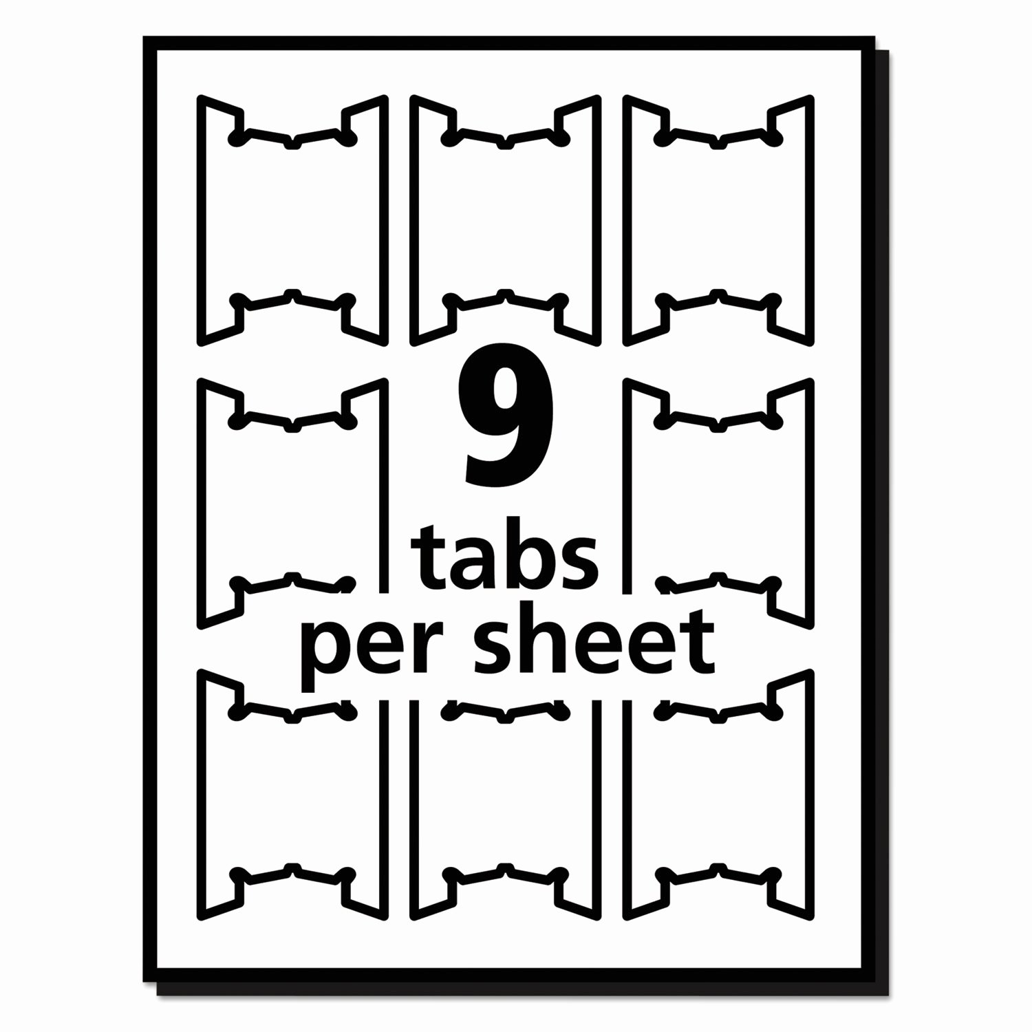 Hanging File Label Template Lovely Print Write Hanging Tabs by Avery Ave5567