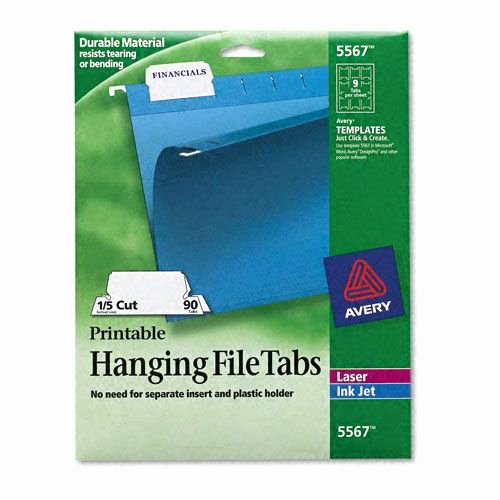 Hanging File Label Template New Avery Ave5567 Print Write Hanging Tabs