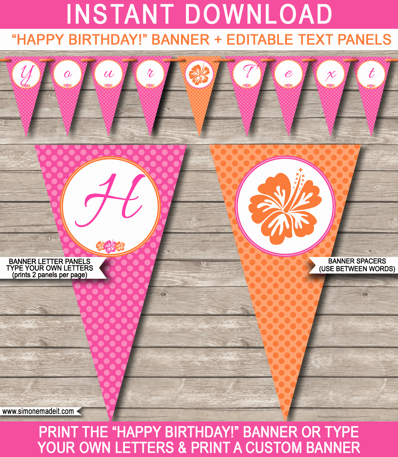 Happy Birthday Banner Template Awesome Hawaiian Luau Party Banner Template