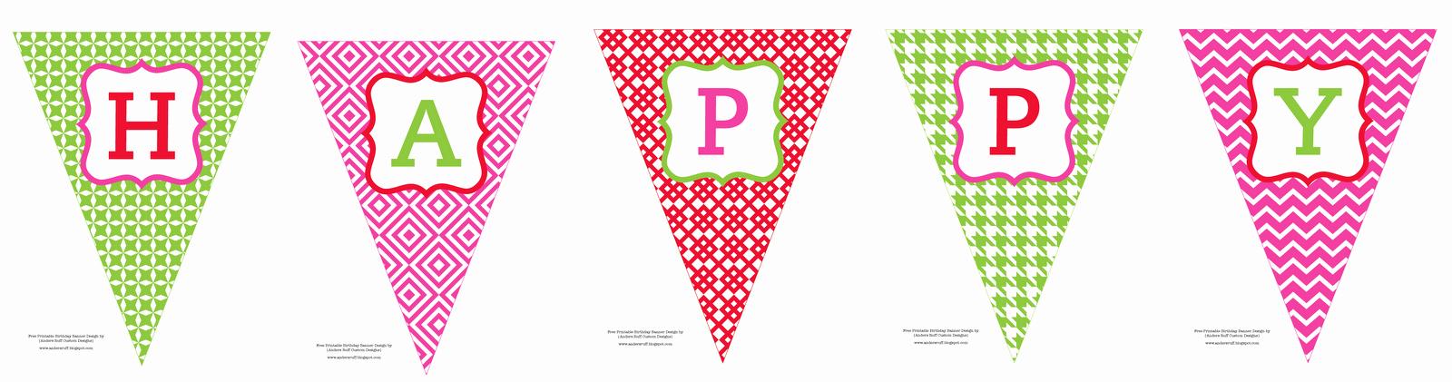 Happy Birthday Banner Template Beautiful Free Printable Happy Birthday Banner anders Ruff Custom