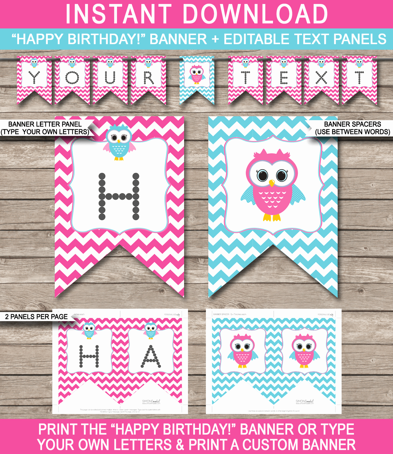Happy Birthday Banner Template Best Of Owl Birthday Banner Template Birthday Banner