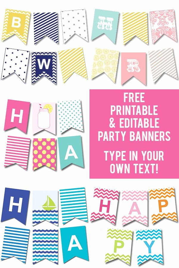 Happy Birthday Banner Template Lovely Free Printable Happy Birthday Banner Templates