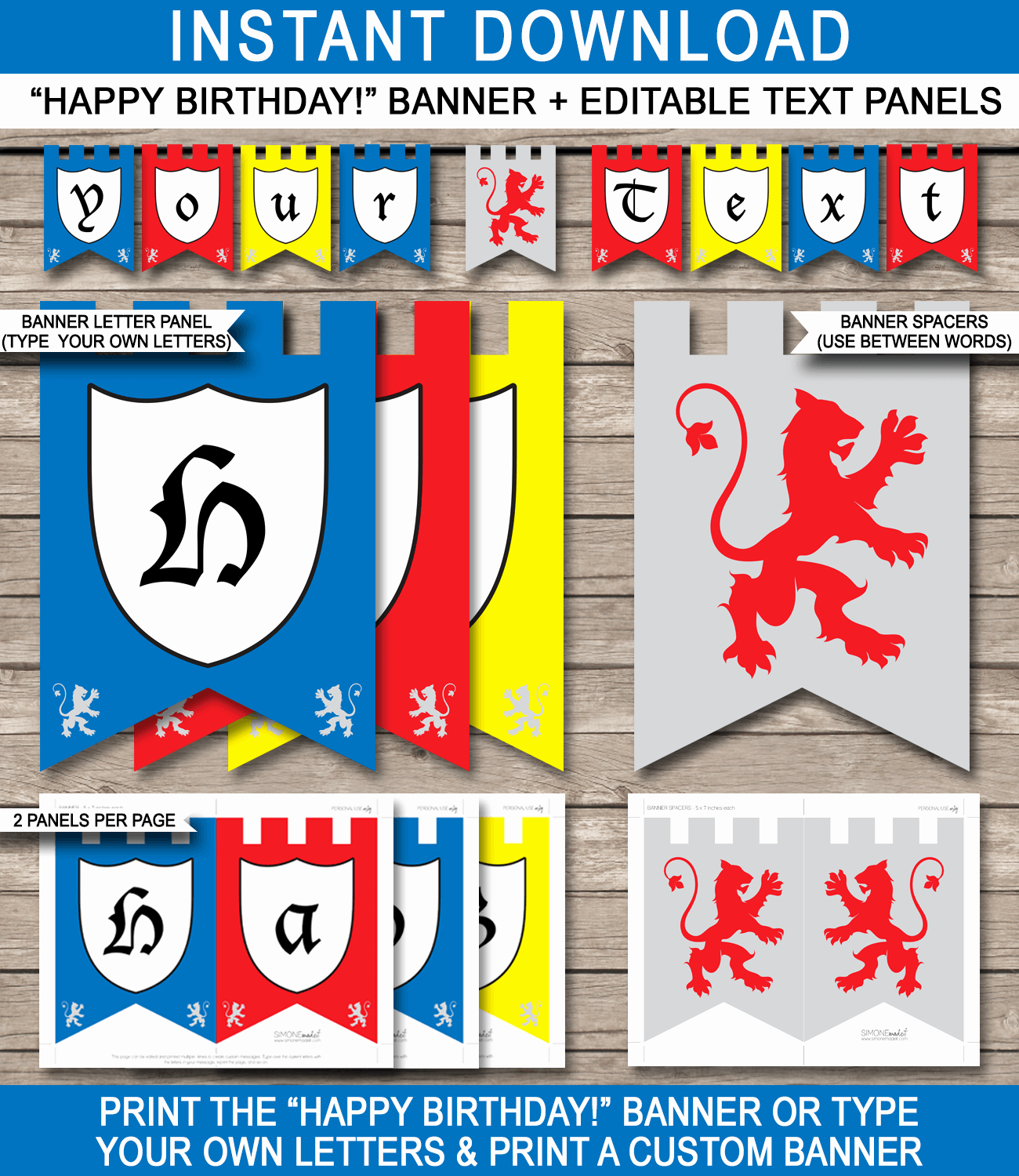Happy Birthday Banner Template Lovely Knight Party Banner Template