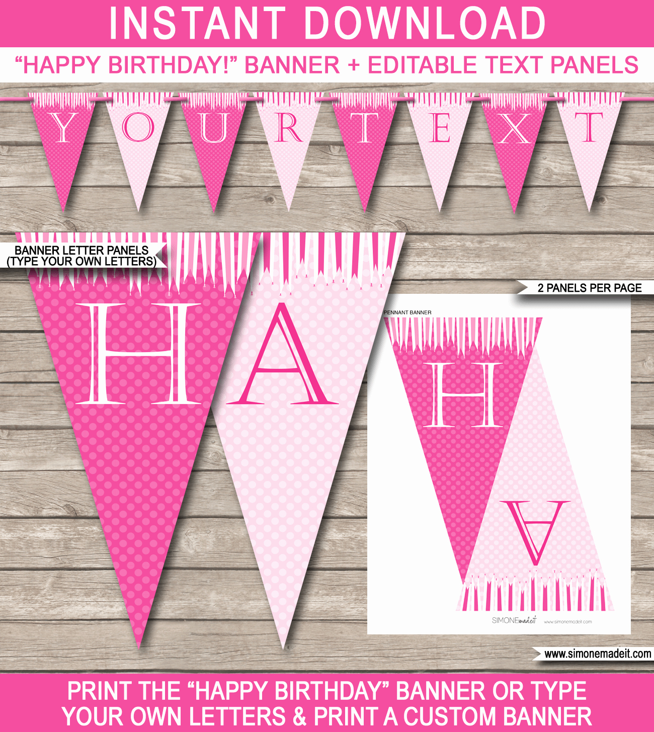 Happy Birthday Banner Template Lovely Princess Party Banner Template