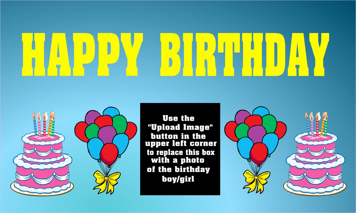 Happy Birthday Banner Template New Custom Birthday Vinyl Banners Custom Birthday Vinyl Signs