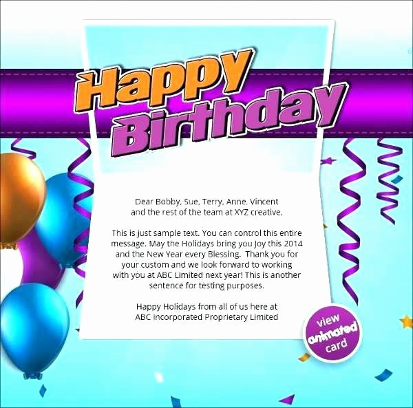 Happy Birthday Email Template Awesome Birthday Email Template