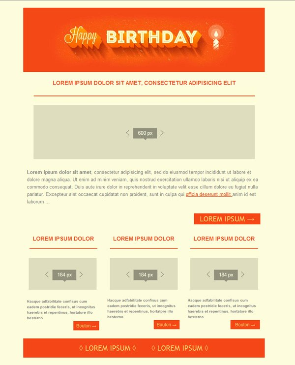 Happy Birthday Email Template Awesome Free Email Templates Download Design Happy Birthday