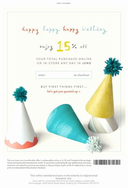 Happy Birthday Email Template Best Of Best 25 Birthday Email Ideas On Pinterest