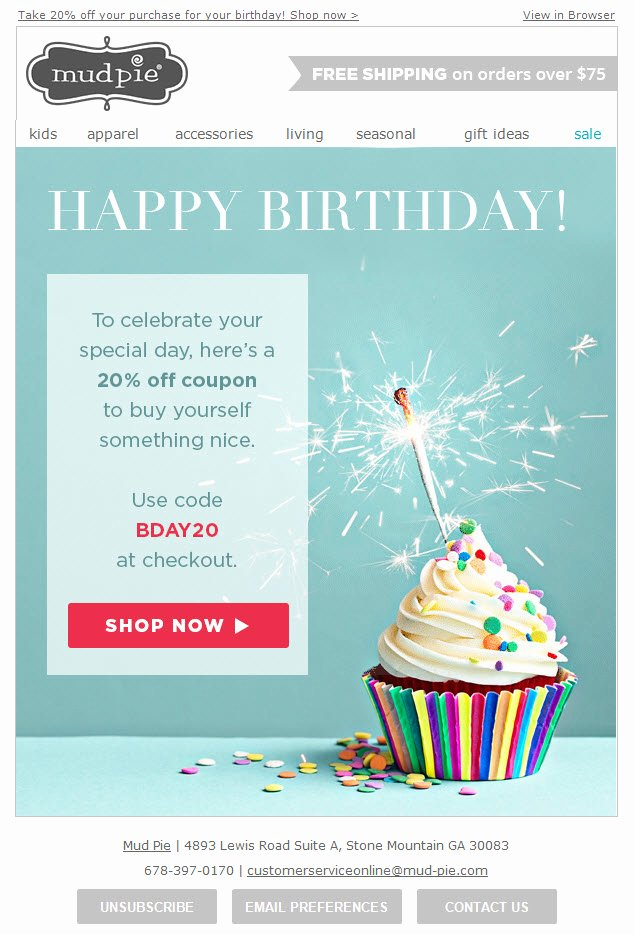 Happy Birthday Email Template Best Of Happy Birthday Email Template to Pin On Pinterest