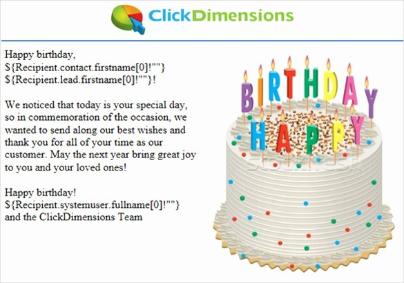 Happy Birthday Email Template Best Of Sample Happy Birthday Email Staruptalent