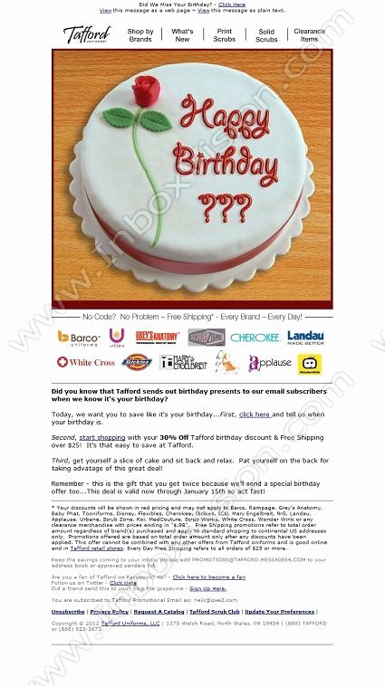 Happy Birthday Email Template Elegant 41 Best Email Creative Birthday Images On Pinterest