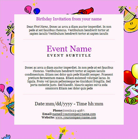 Happy Birthday Email Template Fresh 9 Happy Birthday Email Templates HTML Psd
