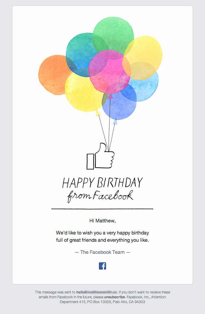 Happy Birthday Email Template Fresh the Best Email Designs In the Universe that Came Into My