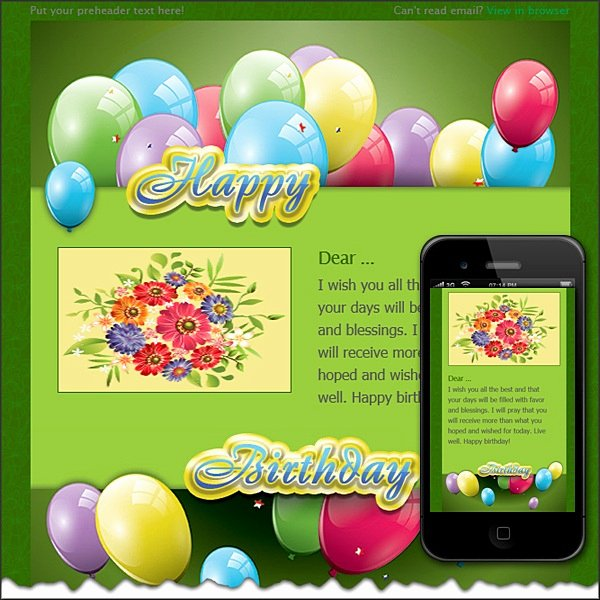Happy Birthday Email Template Lovely Happy Birthday