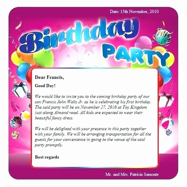 Happy Birthday Email Template Luxury Birthday Email Template Swim Party Birthday Invitations