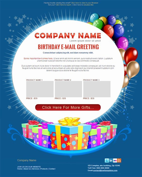 Happy Birthday Email Template New 9 Happy Birthday Email Templates – HTML Psd Templates