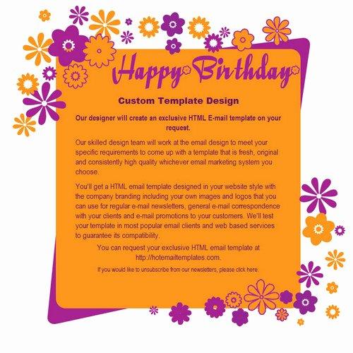 Happy Birthday Email Template Unique Happy Birthday