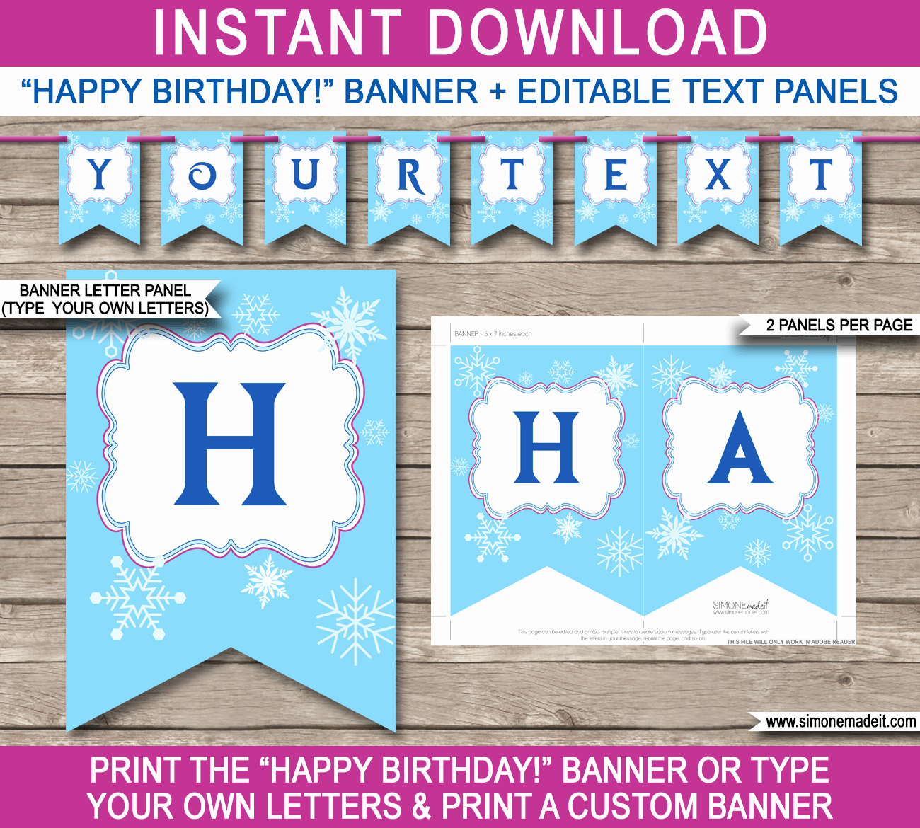 Happy Birthday Sign Template Elegant Frozen Party Banner Template Birthday Banner