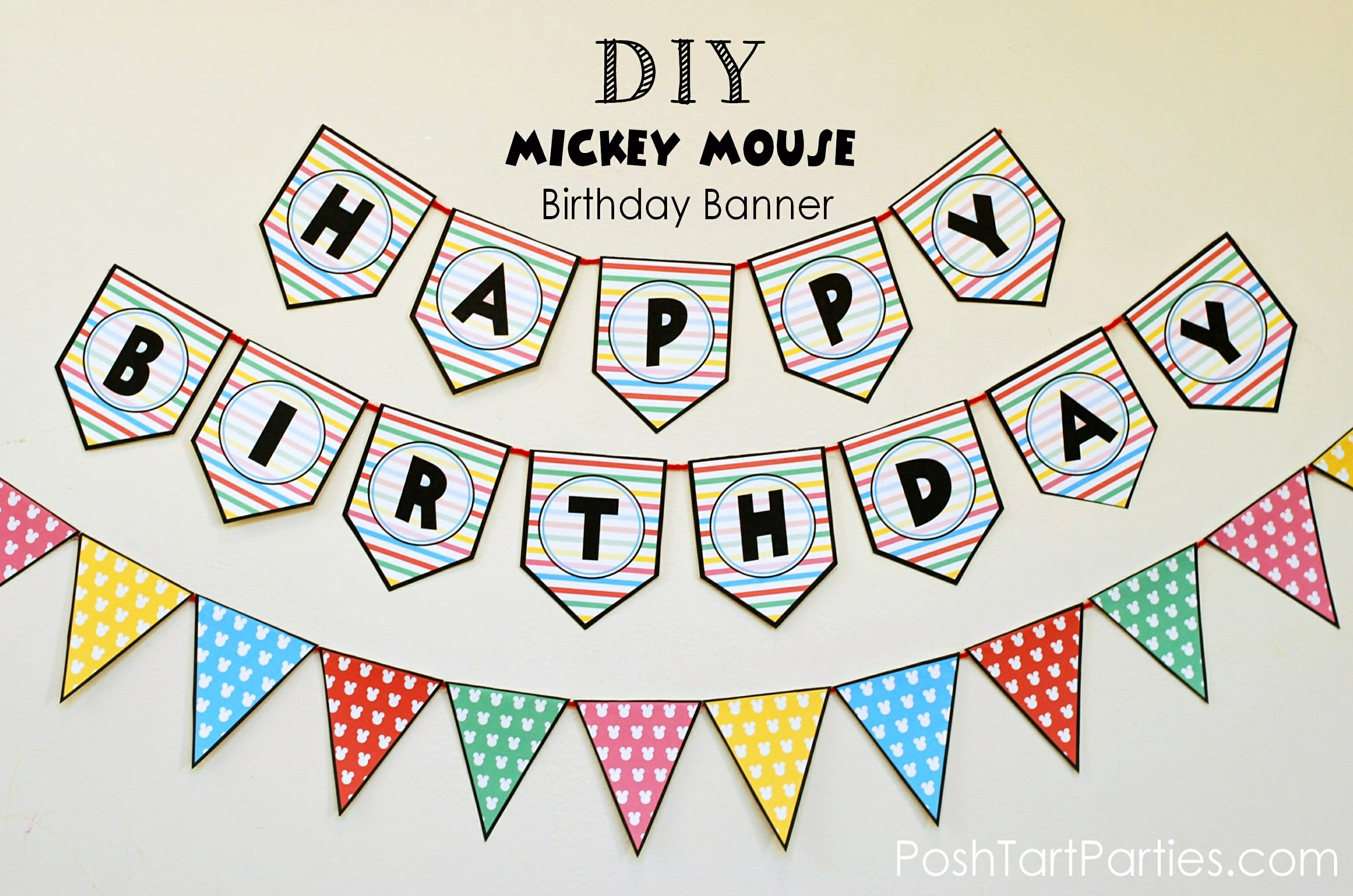 Happy Birthday Sign Template Unique A Mickey and Minnie Mouse Party – Free Printable Happy
