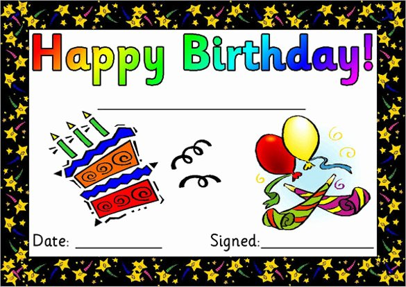 Happy Birthday Template Free Awesome 25 Birthday Certificate Templates Psd Eps In Design