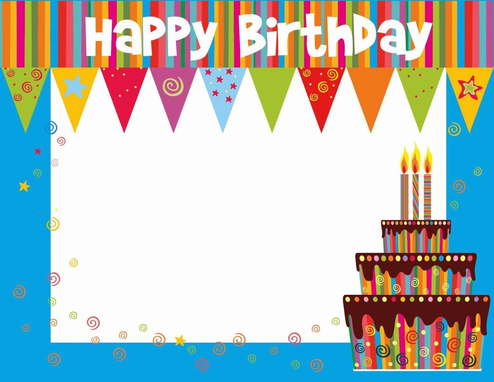 Happy Birthday Template Free Beautiful Free Printable Birthday Cards Ideas Greeting Card Template