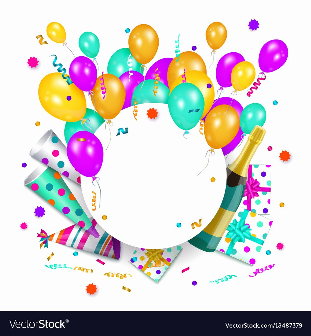Happy Birthday Template Free Elegant Happy Birthday Banner Poster Template Royalty Free Vector