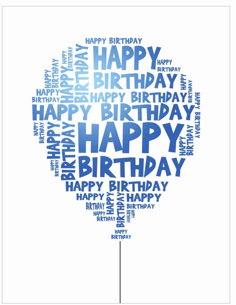Happy Birthday Template Free Inspirational 40 Free Birthday Card Templates Template Lab