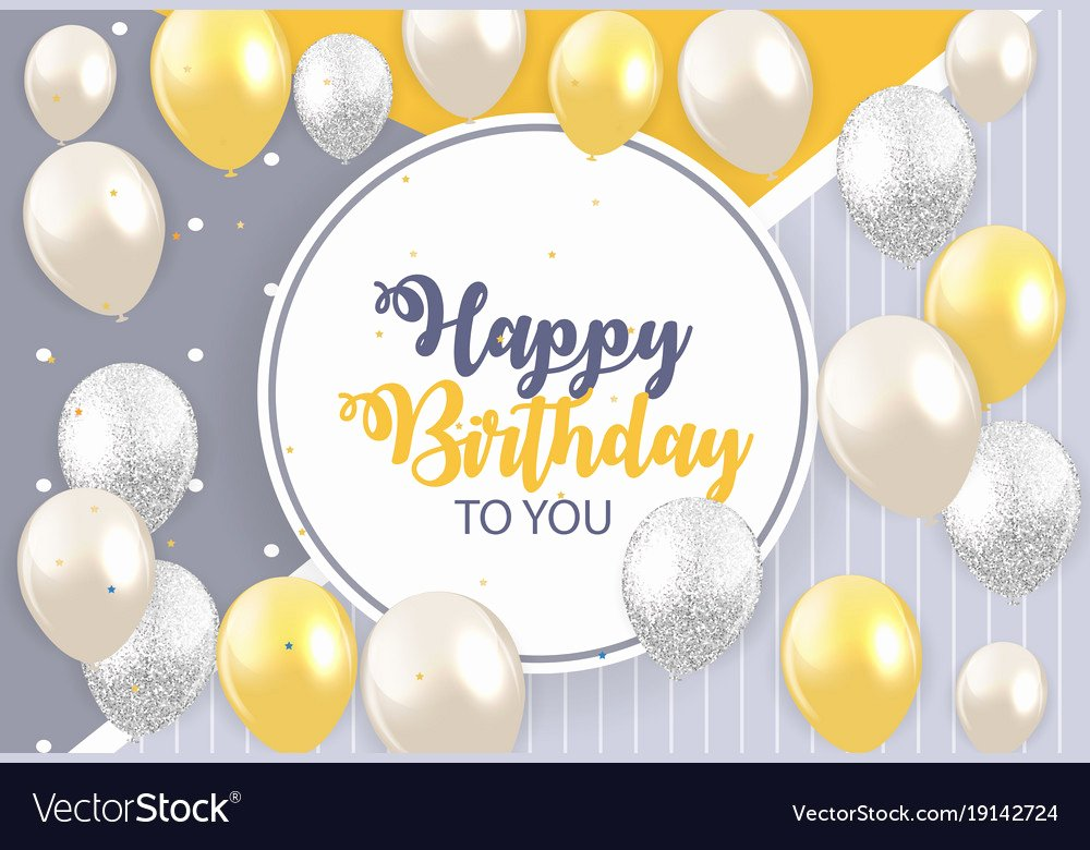 Happy Birthday Template Free Inspirational Abstract Happy Birthday Background Card Template Vector Image