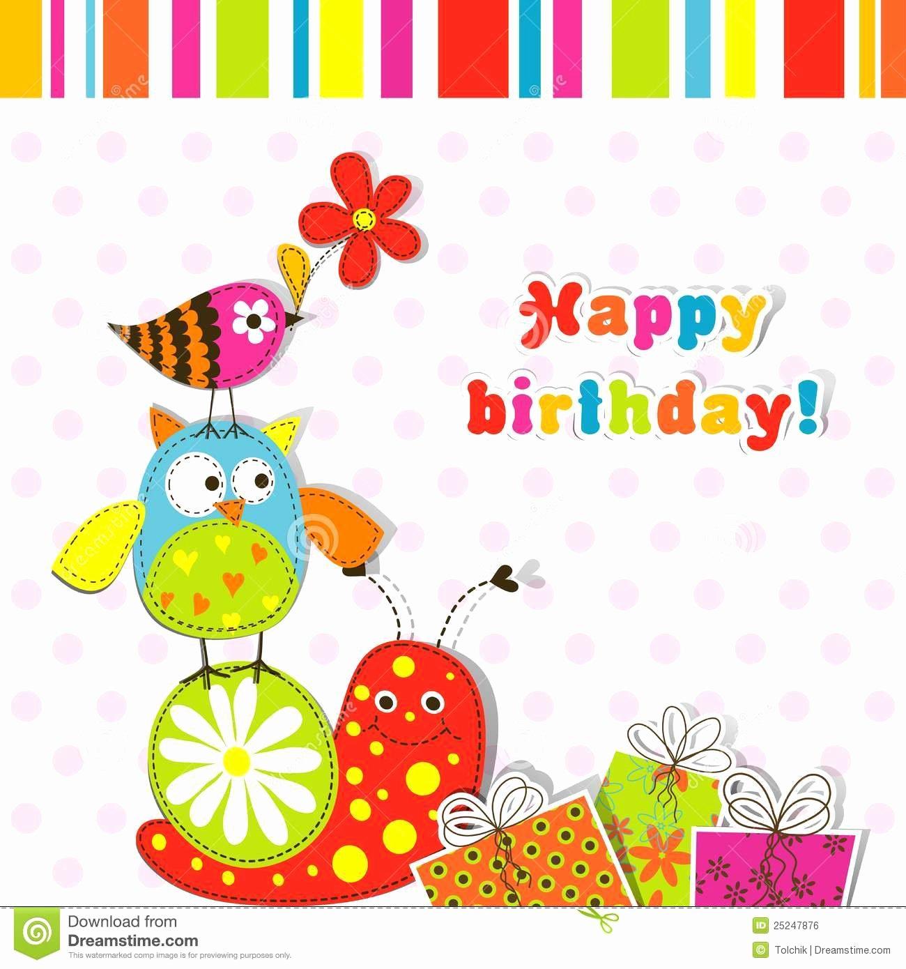 Happy Birthday Template Free Inspirational Birthday Card Template