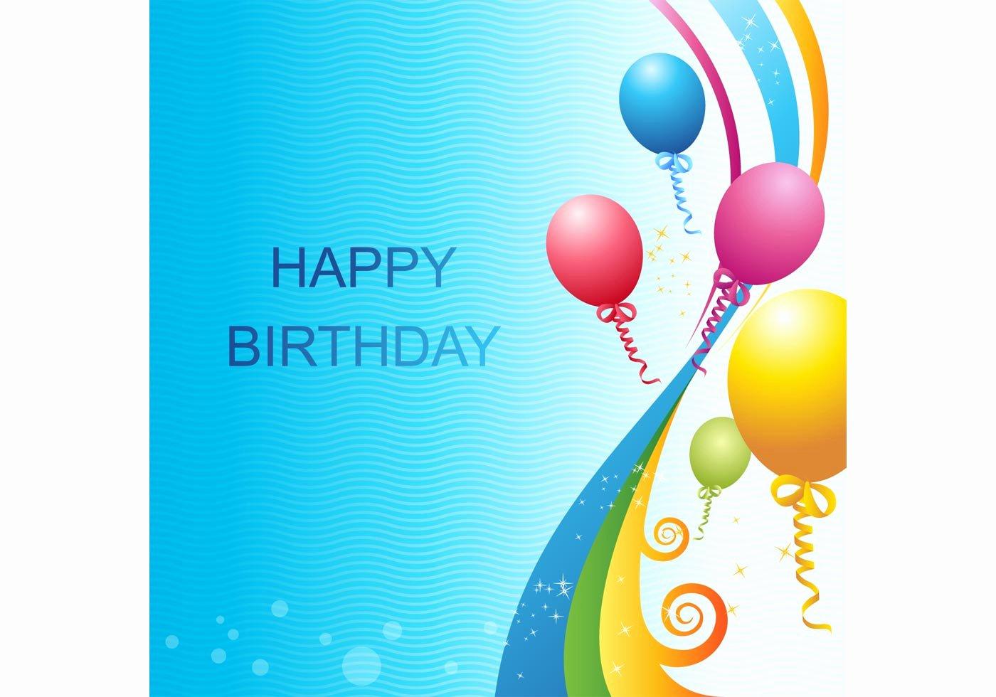 Happy Birthday Template Free Inspirational Vector Birthday Template Download Free Vector Art Stock