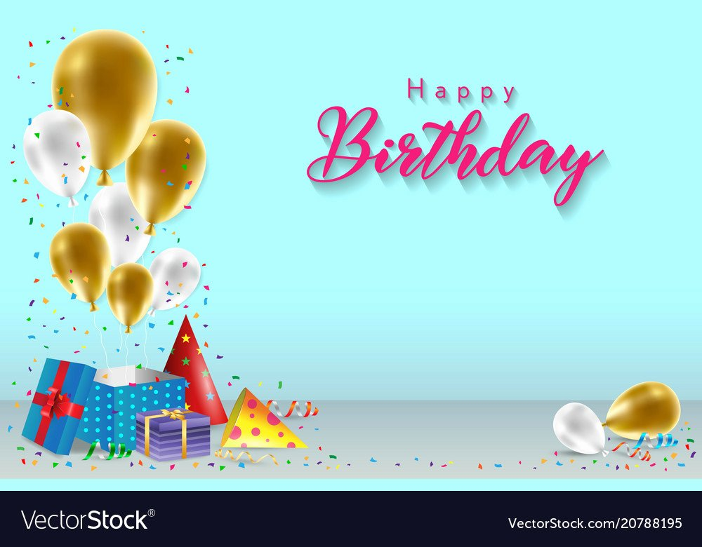 Happy Birthday Template Free Luxury Happy Birthday Background Template Royalty Free Vector Image