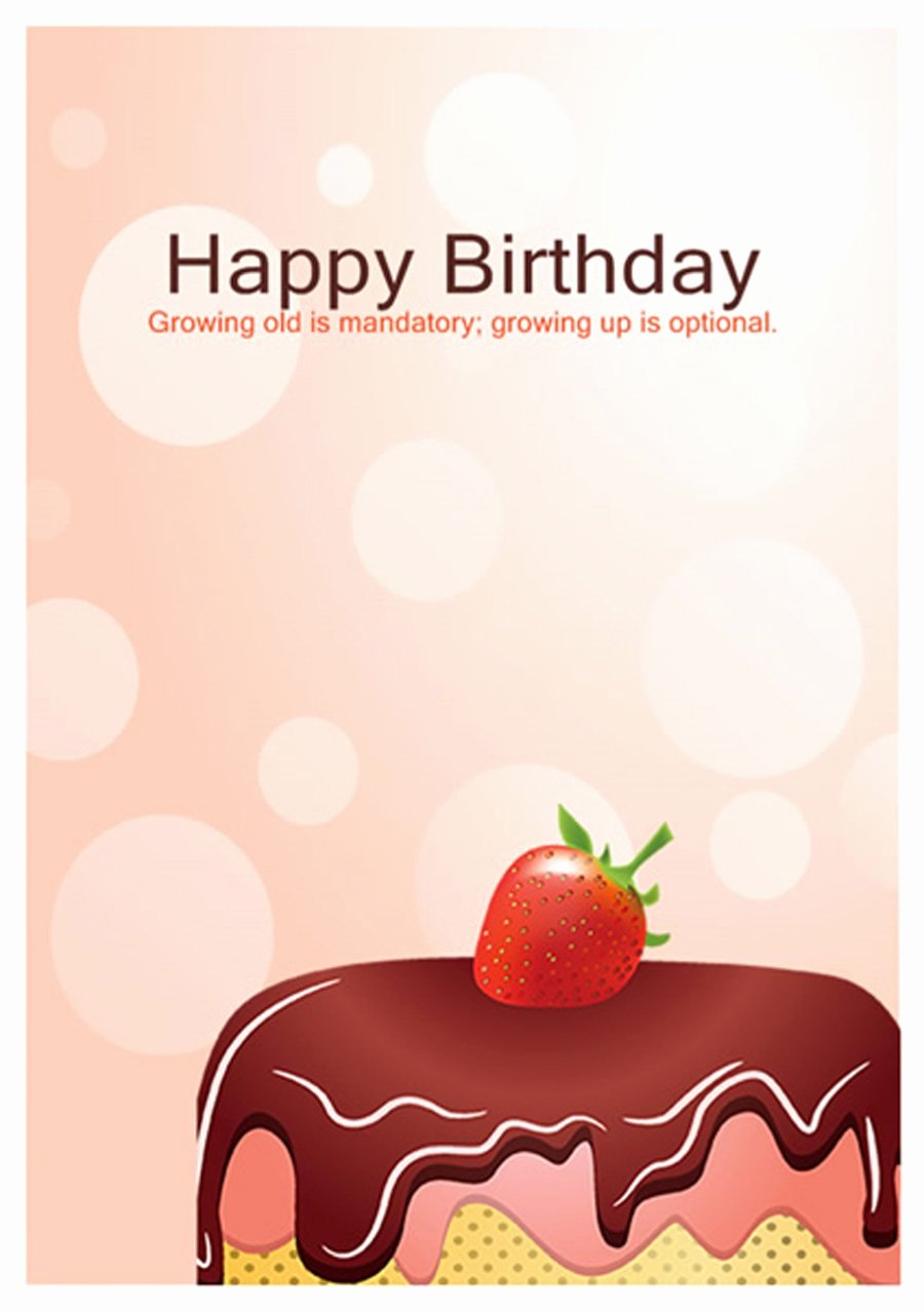 Happy Birthday Template Free New 40 Free Birthday Card Templates Template Lab