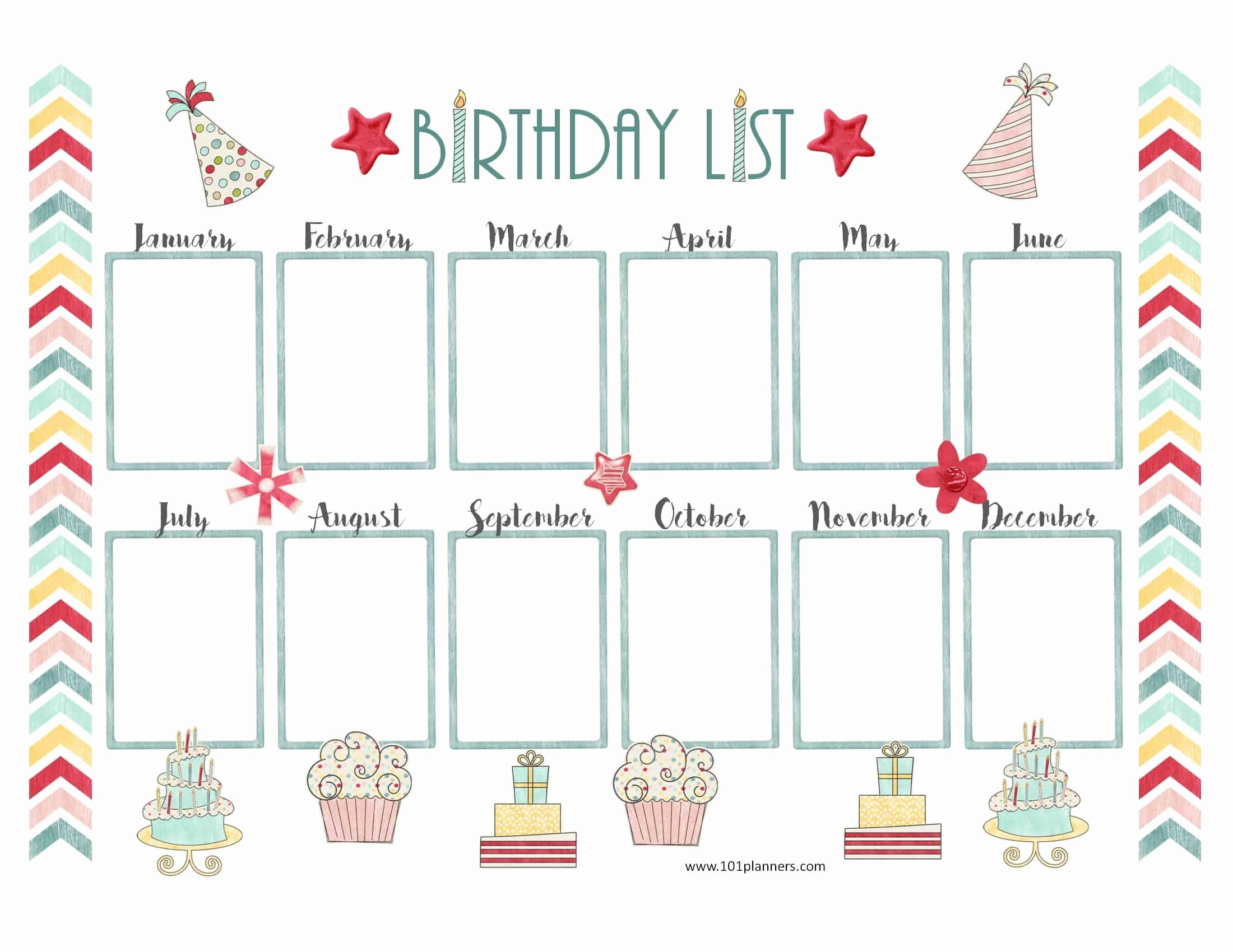 Happy Birthday Template Word Best Of Free Birthday Calendar