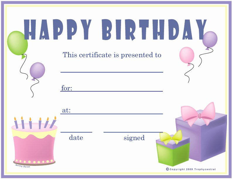 Happy Birthday Template Word Fresh 6 Best Of Birthday Printable Gift Certificates