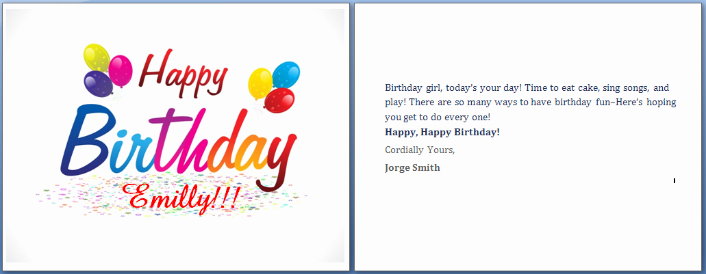 Happy Birthday Template Word Lovely Ms Word Happy Birthday Cards Word Templates