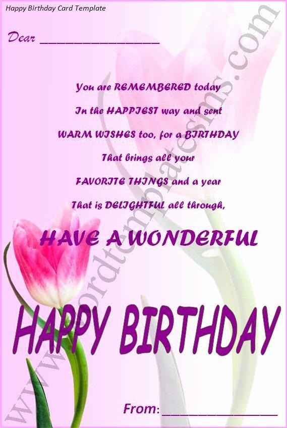 Happy Birthday Template Word New Best S Of Happy Birthday Template Word Happy