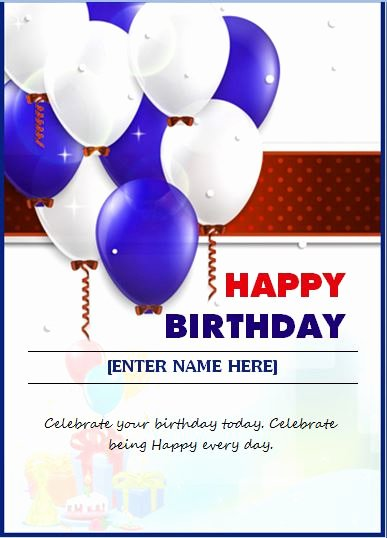 Happy Birthday Template Word Unique 6 Best Of Birthday Card Templates for Word