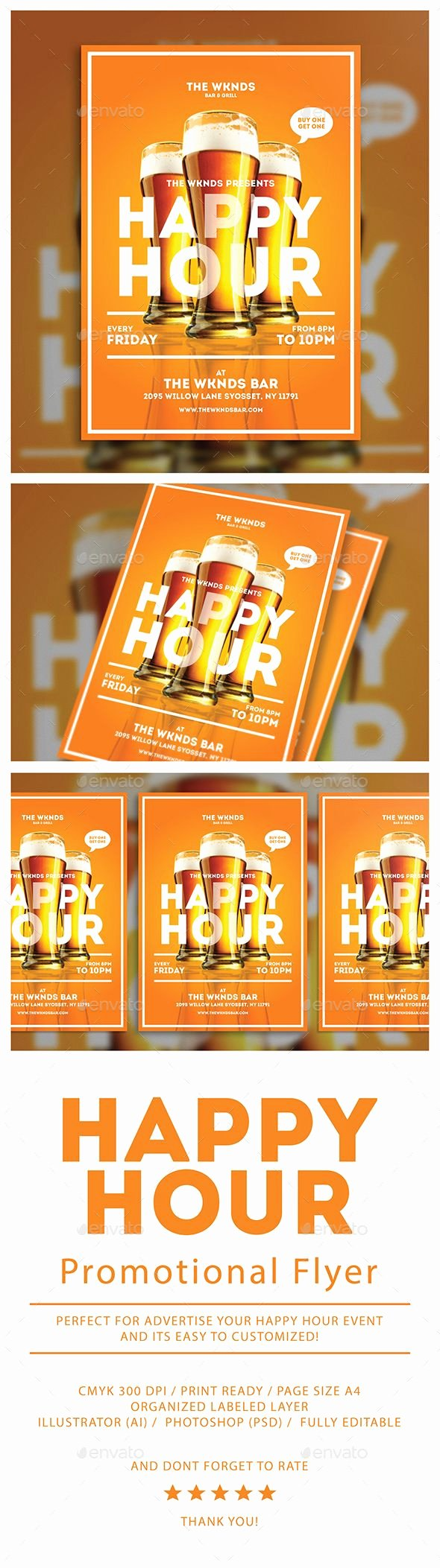 Happy Hour Flyer Template Awesome Happy Hour Flyer