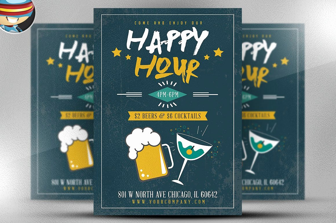 Happy Hour Flyer Template Awesome Simple Happy Hour Flyer Template Flyer Templates
