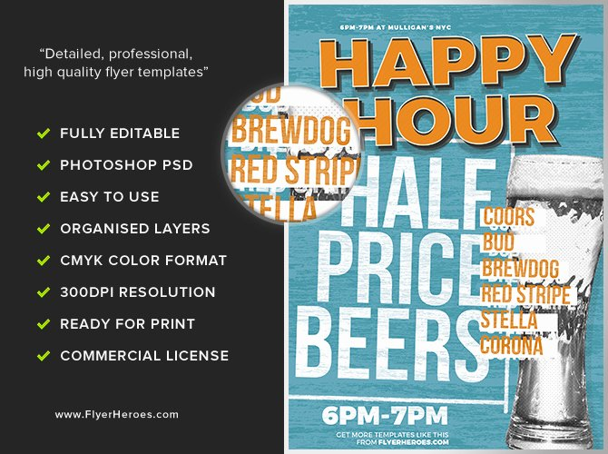 Happy Hour Flyer Template Best Of Happy Hour Flyer Template 2 Flyerheroes
