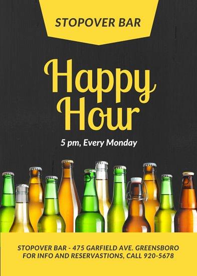 Happy Hour Flyer Template Elegant Customize 84 Bar Flyer Templates Online Canva