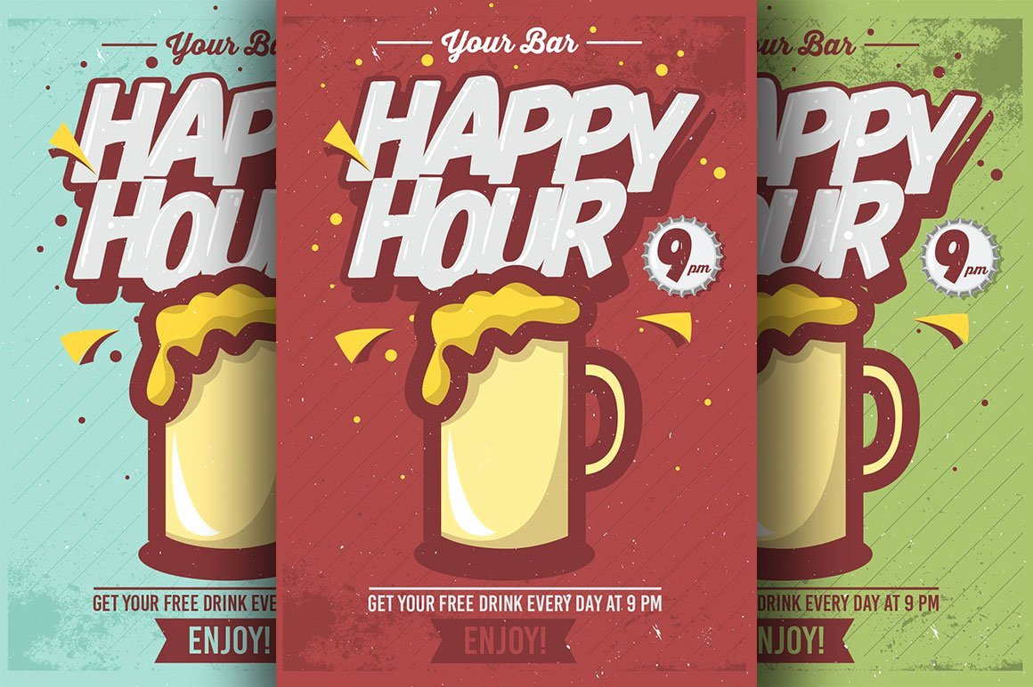 Happy Hour Flyer Template Elegant Ic Happy Hour Flyer Templates Flyer Templates