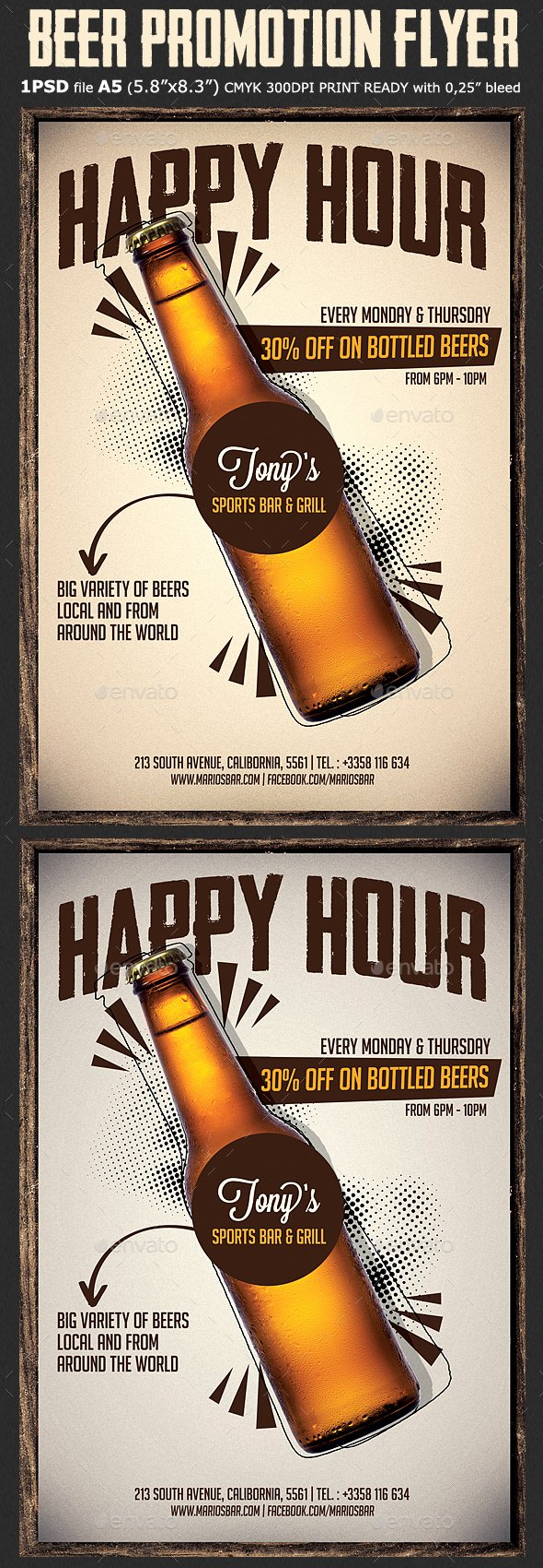 Happy Hour Flyer Template Fresh Beer Promotion Happy Hour Flyer by Hotpin