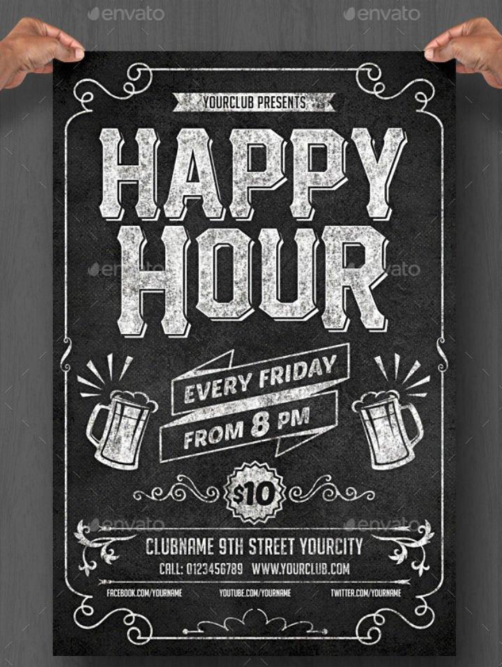 Happy Hour Flyer Template Inspirational 14 Happy Hour Menu Designs & Templates Psd Ai