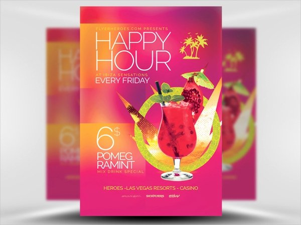 Happy Hour Flyer Template Inspirational 21 Happy Hour Flyer Templates Free Psd Ai Eps format