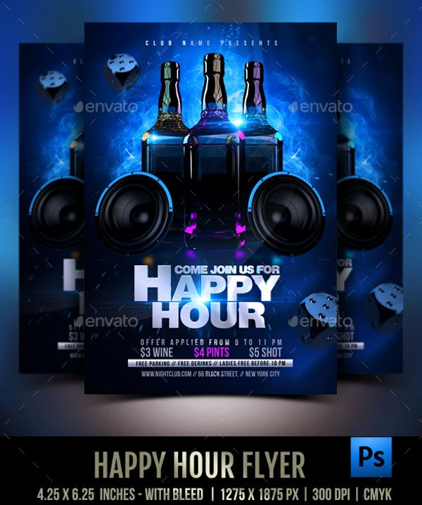 Happy Hour Flyer Template Inspirational 23 Happy Hour Flyer Templates Psd Vector Eps Jpg
