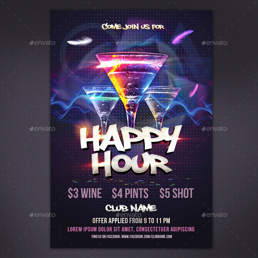 Happy Hour Flyer Template Inspirational Happy Hour Flyer by Rembassio